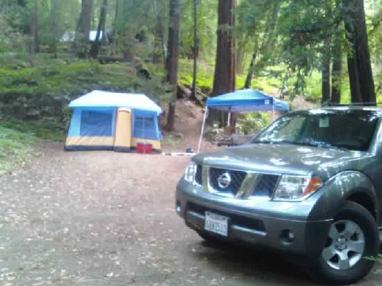 Riverside Campground and Cabins: our campsite site 29