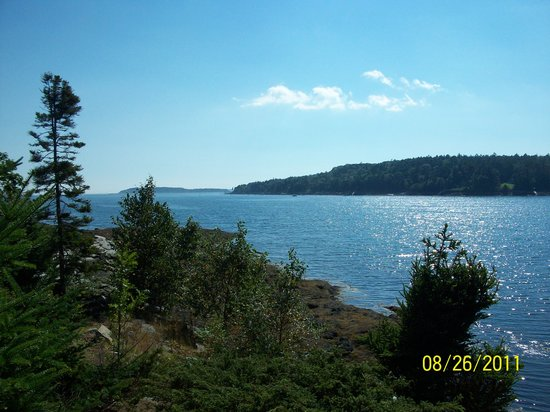 Boothbay Harbor, ME : View of Linekin Bay from Cabbage Island