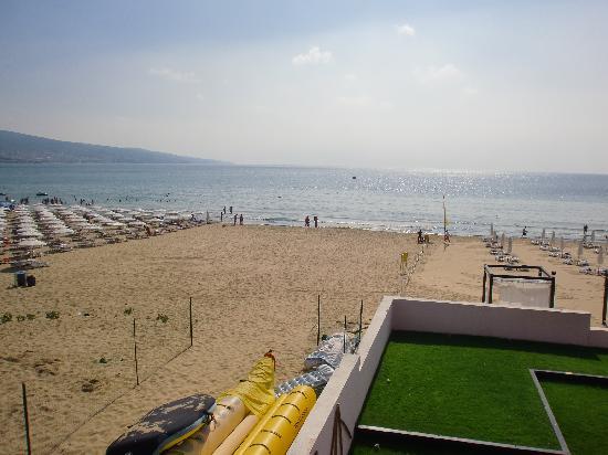 Confronto concentrazione ombrelloni spiaggia hotel e spiaggia adiacente