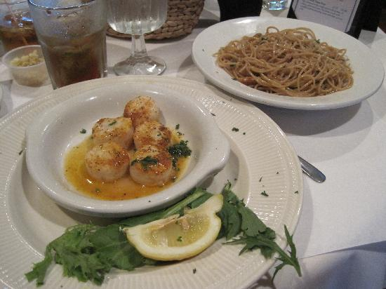 Torrey Park Grill : Scallops with pasta
