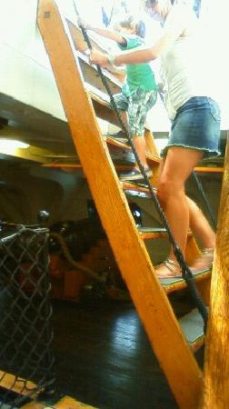 USS Constitution Museum: stairs to the botom