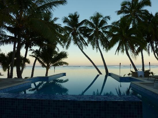 Little Polynesian Resort: dinner dinning view