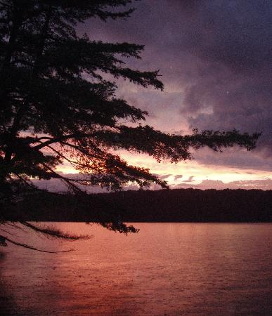 Peck's Lake Family Fishing Resort : View from the Dock after a storm