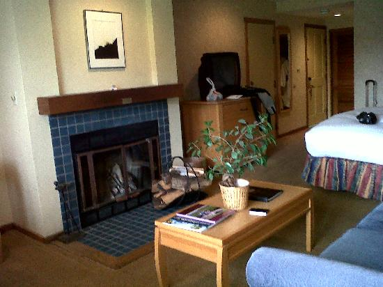 Inn at the Tides: View from window toward entrance