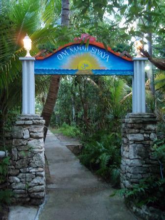 Sivananda Ashram Yoga Retreat: Entrance to the Ashram