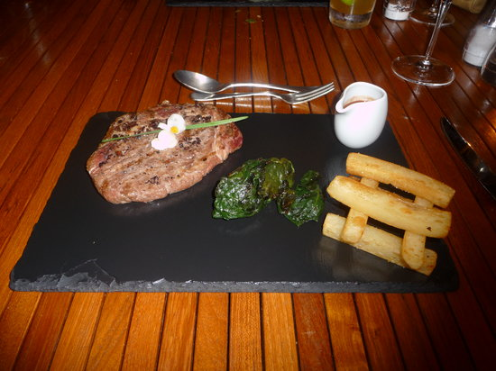 Boucan Restaurant & Bar by Hotel Chocolat: Ribeye with red wine cocao reduction