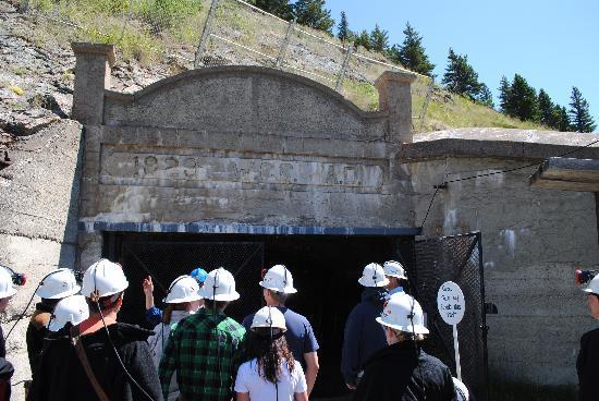 Bellevue Underground Mine: Preparing to enter the mine tunnel.