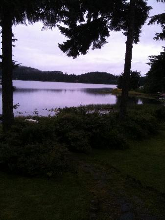 Auke Lake Bed & Breakfast: View from the deck.