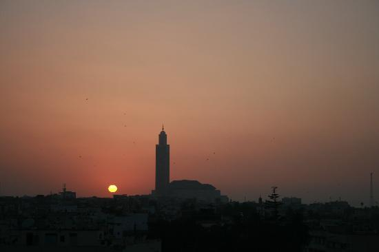 Novotel Casablanca City Center: Mosque at sunset from our room