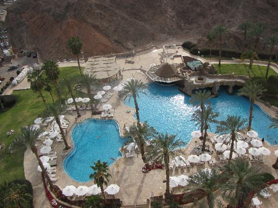 Eilat Princess Hotel : view of the pools