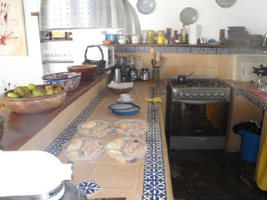 Posada Piano y Papaya Los Roques: Detalle Cocina Posada