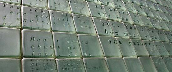 Memoral Wall Words - New York City Vietnam Veterans Memorial Plaza