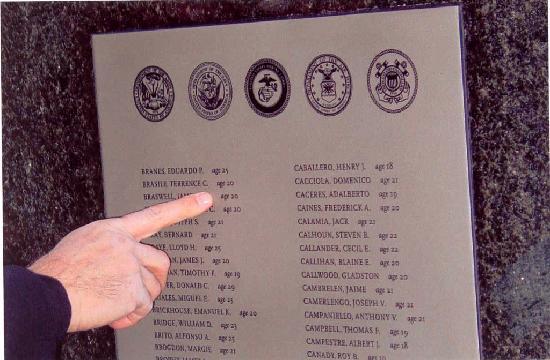 Walk of Honor Plaque - New York City Vietnam Veterans Memorial Plaza