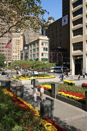 New York City Vietnam Veterans Memorial Plaza flowers