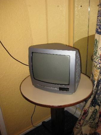 Chester Bridge Hotel: smallest tv in the world