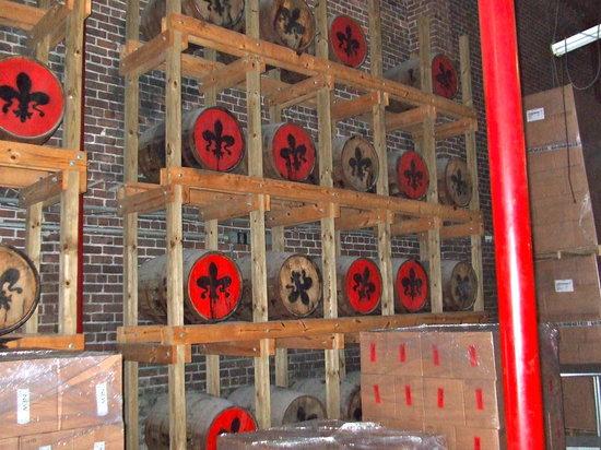 Old New Orleans Rum Distillery: Rum Barrels