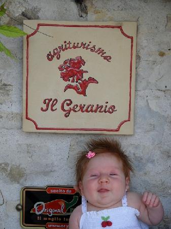 Agriturismo il Geranio: la signorina ringrazia