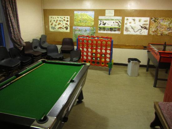 YHA Snowdon Ranger : The game room..