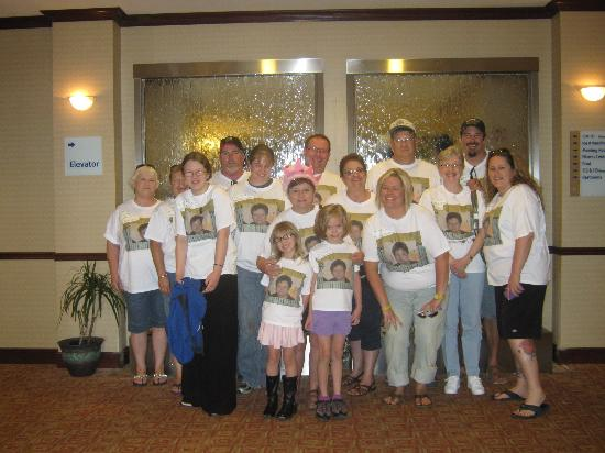 Best Western Palo Duro Canyon Inn & Suites: our family in the lobby