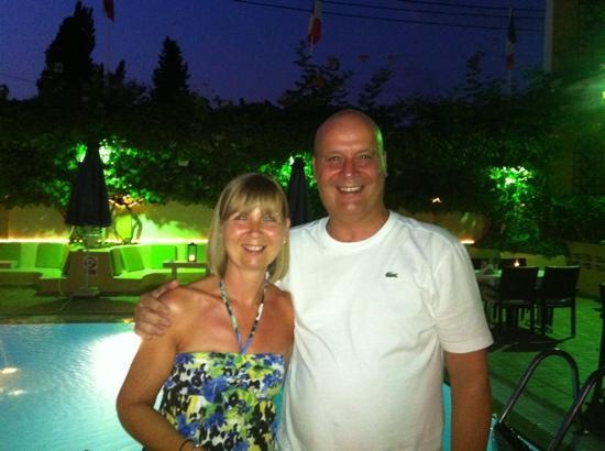 Hotel Telesilla: My Sister Nicola and me.