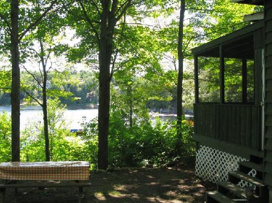 Silver Lake Cottage Resort: The view from our cabin