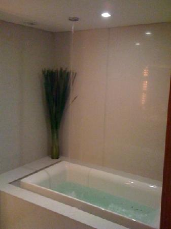 "Maduzi Hotel: the huge ""infinity"" jacuzzi bath tub"