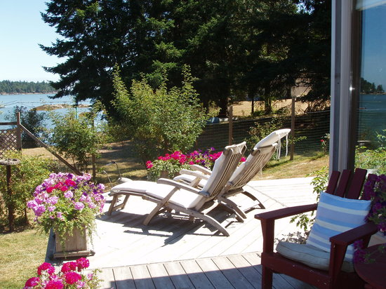 Salish Sea Bed & Breakfast: Relaxing sunny spot.
