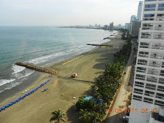 Hotel Regatta Cartagena: vista a la playa bocagrande
