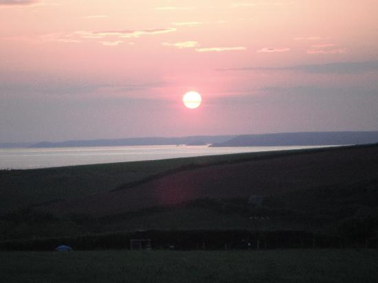 Bolberry Down: Sunset from Campsite