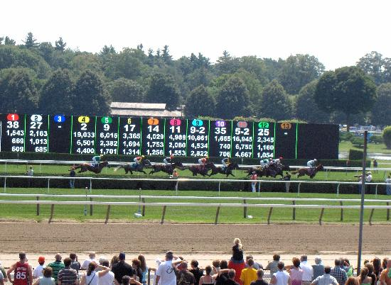 Saratoga Springs, NY: And down the stretch they come!