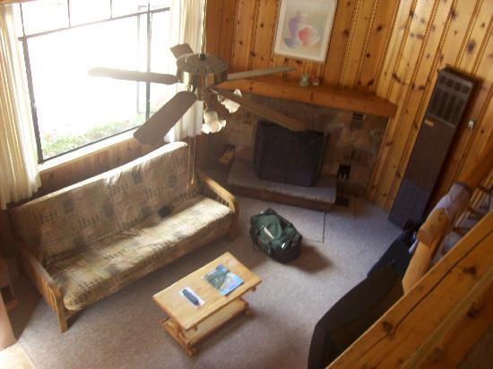 Blackhawk Lodges: View of living room from loft