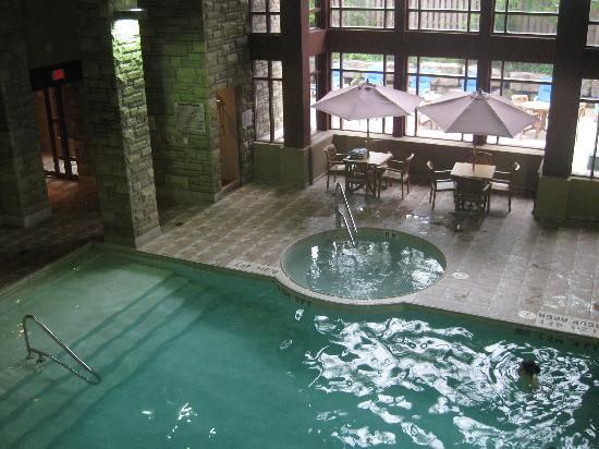Indoor swimming pool picture of doubletree fallsview for Pool spa show niagara falls
