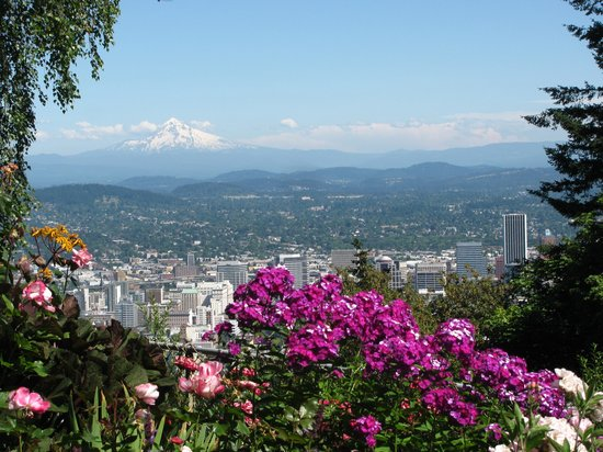 America's Hub World Tours: View of Mt. Hood from Pittock mansion