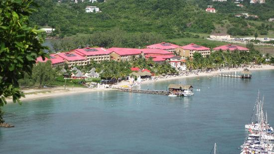 Sandals Grande St. Lucian Spa & Beach Resort: View from atop Pigeon  island