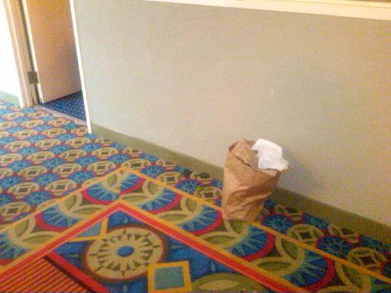 Embassy Suites by Hilton Walnut Creek: Trash that another lovely guest left outside of my room that was not removed even after my reque