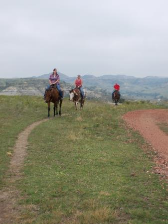 Medora Riding Stables: Trail Riding through the ND Badlands.