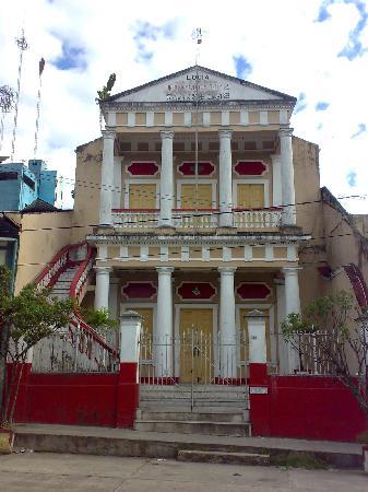 Iquitos, Peru: edificio de la logia masonica