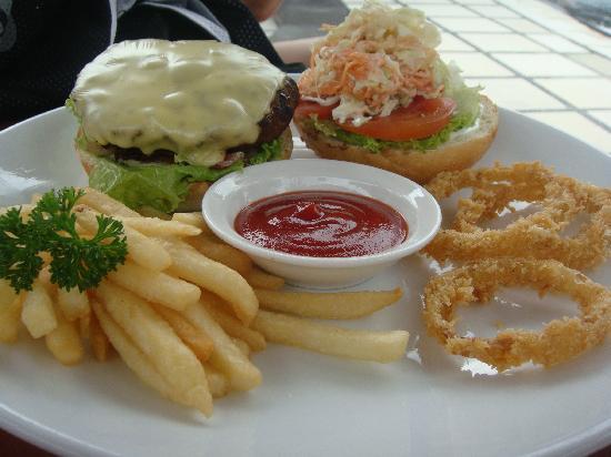 Keraton Jimbaran Beach Resort: My burger at pool side