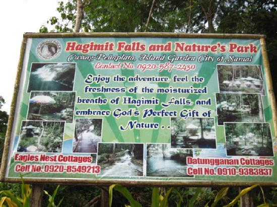 Hagimit Falls: billboard