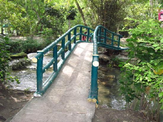 Hagimit Falls: bridge