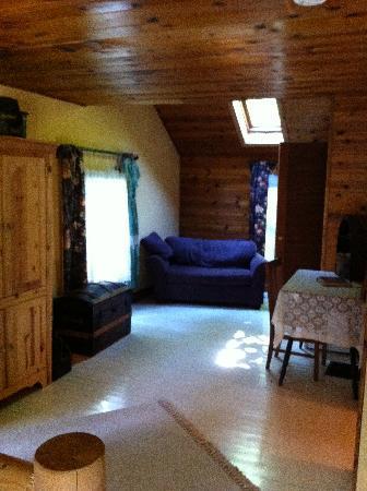 Bridal Veil Lodge: Skylight in the big bedroom