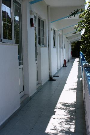 Afroditi: Corridoio che porta alle camere