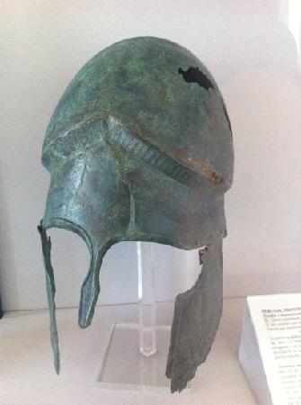 National Archaeological Museum: bronze helmet