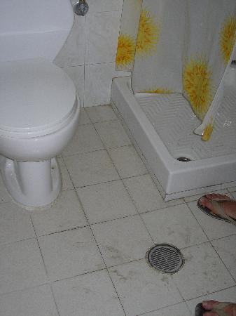 Corona Studios: Vue de la salle de bains (un carreau fait 20 cm de large)