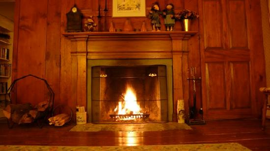 Henry Farm Inn: The roaring fire we had each evening