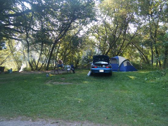 Brantford, Canada: Our campsite