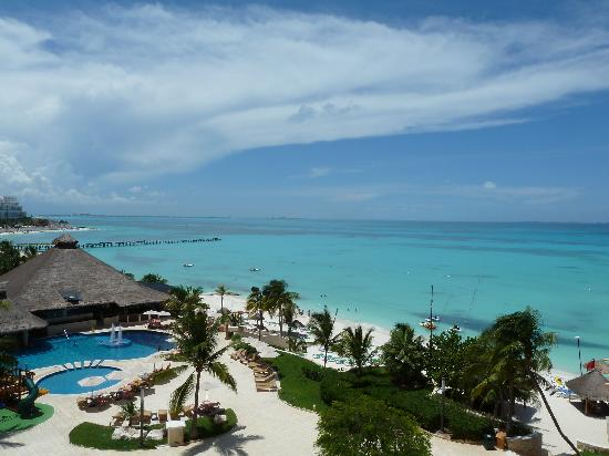 Grand Fiesta Americana Coral Beach Cancun: Camera vista mare