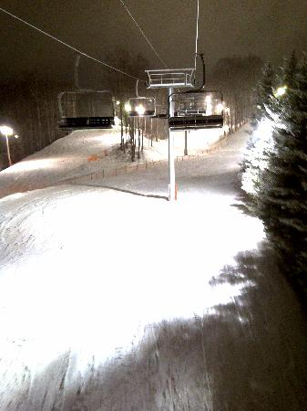 Horseshoe Resort: Night skiing/snowboarding is awesome