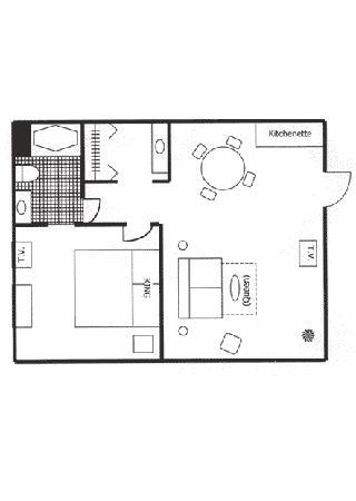 Century Suites Hotel : Flat King floor plan