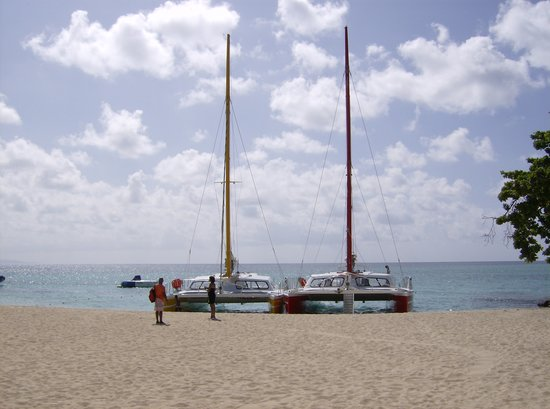 Montego Bay, Jamaica: We took the catamaran on the right